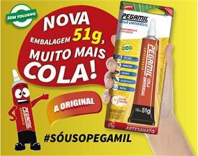 COLA UNIVERSAL - ARTESANATO - PEGAMIL - BISNAGA 51G