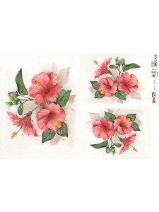 OPL - 30X45 FLOR HIBISCO REF 2377 - OPAPEL