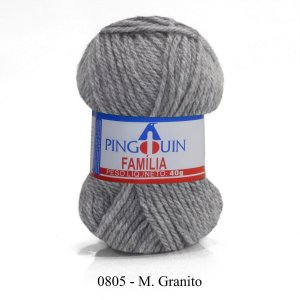 LÃ FIO FAMÍLIA 40 GR - COR 0805 M. GRANITO