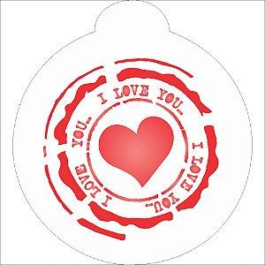 ESTENCIL 10X10 R - SELO LOVE OPA1127
