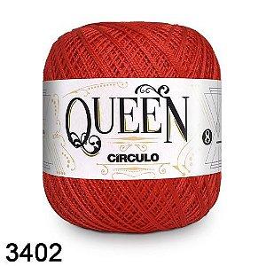 FIO QUEEM 8 2 100GR 678MT COR 3402 vermelho circulo