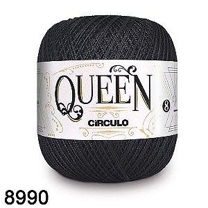 Fio Queen 8/2 Circulo 100g Tex 147,5 COR 8990 PRETO