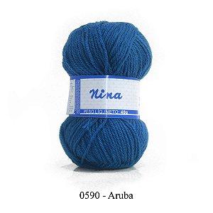 LÃ NINA PINGOUIN 40G COR 590 - ARUBA