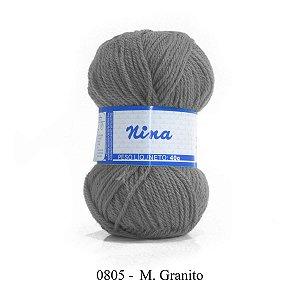 LÃ NINA PINGOUIN 40G COR 805 - M. GRANITO