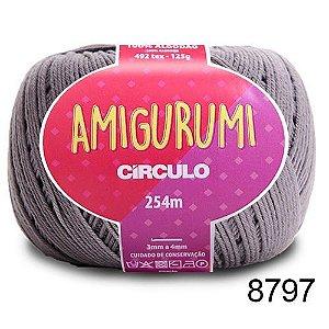 LINHA AMIGURUMI 125 G COR 8797 AÇO