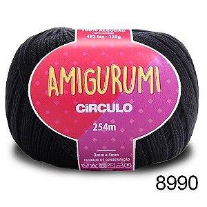 LINHA AMIGURUMI 125 G COR 8990 PRETO