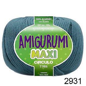 FIO AMIGURUMI MAXI 135 GR 114 MTS COR 2931 NÁUTICO AZUL