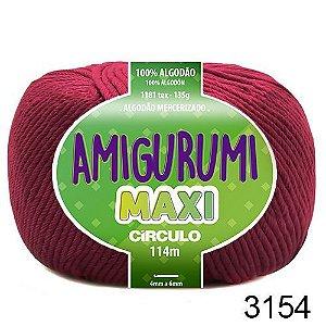 FIO AMIGURUMI MAXI 135 GR 114 MTS COR 3154 VINHO