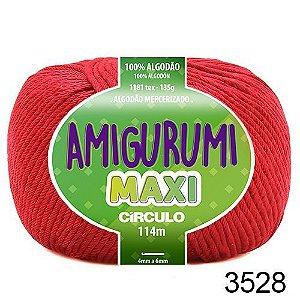 FIO AMIGURUMI MAXI 135 GR 114 MTS COR 3528 CARMIM