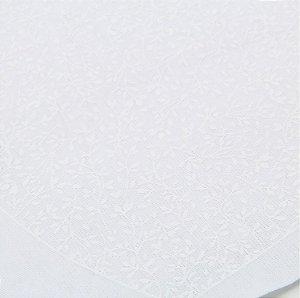 Tecido Para Máscara Riscado Branco floral 0,58cm X 1,44mts