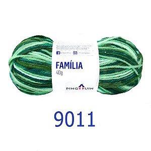 FIO FAMILIA 40 GR COR 9011 GREEM MIX PINGOUIN