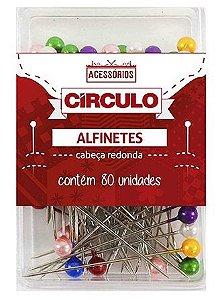 ALFINETE PEROLA 80 PÇS CIRCULO