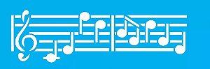 ESTENCIL 10X30 NOTAS MUSICAIS II OPA704