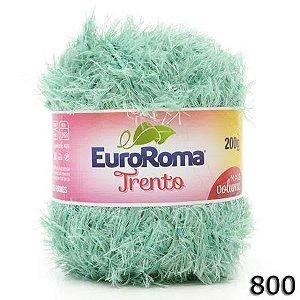 EUROROMA TRENTO 200 GR FIO 6 COR 800 VERDE AGUA CLARO