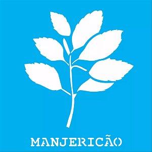ESTENCIL 14X14 MANJERICAO OPA2016