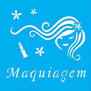 ESTENCIL 14X14 MAQUIAGEM I OPA 992