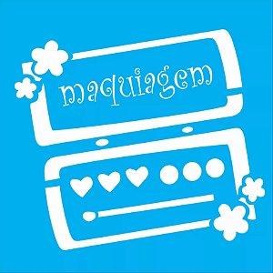 ESTENCIL 14X14 MAQUIAGEM III OPA994