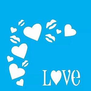 ESTENCIL 10X10 CANTONEIRA LOVE OPA501