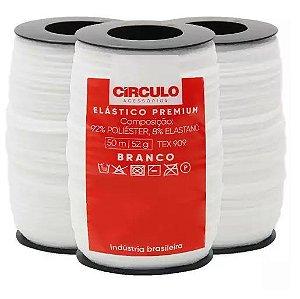 ELASTICO PREMIUM REF 396087 COR 10 BRANCO CIRCULO