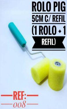ROLO PIGMEU ACAB 5 CM COM REFIL REF 008