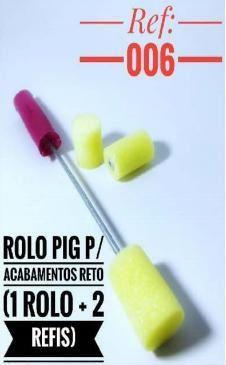 ROLO PIGMEU P ACABAMENTO RETO REF 006 C 2 REFIL