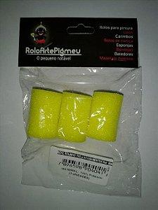 REFIL ROLINHO PIGMEU 3,5 CM 3 UNID REF 004C