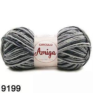 FIO AMIGA 100 GR COR 9199 MESCLA NUBLADO CINZA