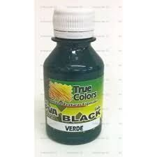 tinta PVA fosca True Colors Black Verde 100 ml