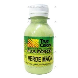 Tinta PVA Fosca True Colors Verde Maçã 100 ml