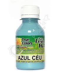 Tinta PVA Fosca True Colors Azul Céu 100 ml