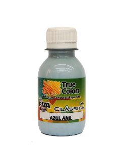 Tinta PVA Fosca True Colors Azul Anil 100 ml