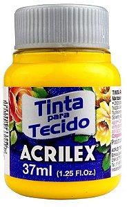 TINTA PARA TECIDO ACRILEX AMARELO OURO 37 ML