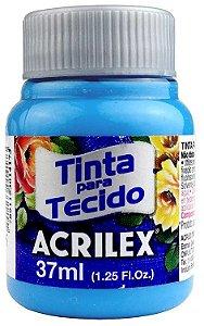 TINTA PARA TECIDO ACRILEX AZUL MAR 37 ML