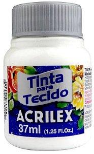 TINTA PARA TECIDO ACRILEX BRANCO 37 ML