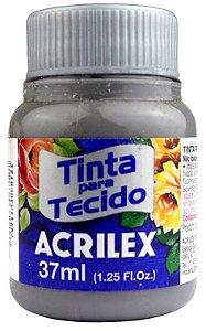 TINTA PARA TECIDO ACRILEX CINZA 37 ML