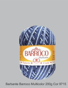 Barbante Barroco Multicolor 226 mts 200 g - Cor 9715