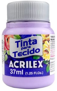 TINTA PARA TECIDO ACRILEX LILAS 37 ML
