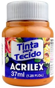 TINTA PARA TECIDO ACRILEX MARROM CAFE 37 ML