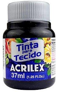 TINTA PARA TECIDO ACRILEX PRETO 37 ML