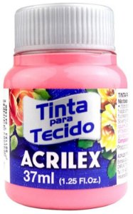 TINTA PARA TECIDO ACRILEX ROSA CHA 37 ML