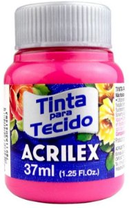 TINTA PARA TECIDO ACRILEX ROSA ESCURO 37 ML