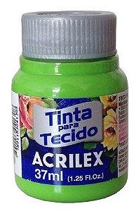 TINTA PARA TECIDO ACRILEX VERDE FOLHA 37 ML