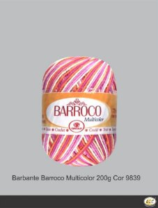 Barbante Barroco Multicolor 226 mts 200 g - Cor 9839