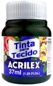 TINTA PARA TECIDO ACRILEX VERDE PANTANO 37 ML