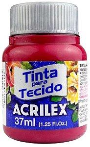 TINTA PARA TECIDO ACRILEX VERMELHO CARMIM 37 ML