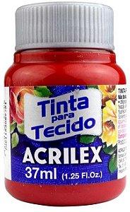 TINTA PARA TECIDO ACRILEX VERMELHO PROFUNDO 37 ML