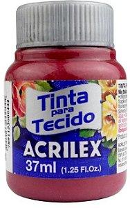 TINTA PARA TECIDO ACRILEX VERMELHO QUEIMADO 37 ML