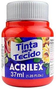 TINTA PARA TECIDO ACRILEX VERMELHO FOGO 37 ML