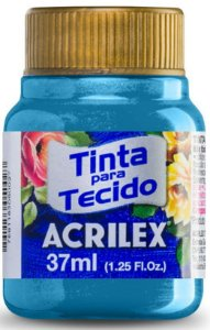 TINTA PARA TECIDO ACRILEX METALICA AZUL 37 ML