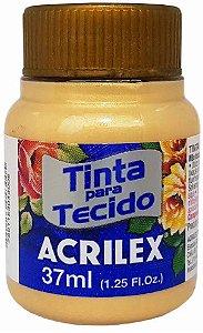 TINTA PARA TECIDO ACRILEX METALICA OURO 37 ML